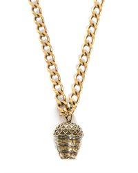 Alexander McQueen | Metallic Acorn Pendant Necklace | Lyst