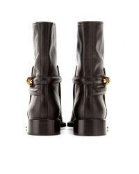 Balenciaga | Black Leather Biker Boots | Lyst