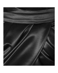 Balmain - Black Wool and Silk Mini Dress - Lyst