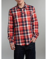 Barbour - Red Long Sleeve Luca Shirt for Men - Lyst