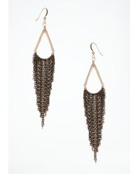 Bebe | Gray Tassel Earrings | Lyst