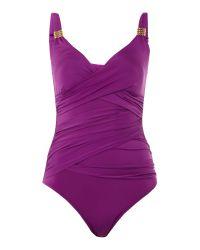 Biba   Purple Goddess Swimsuit   Lyst