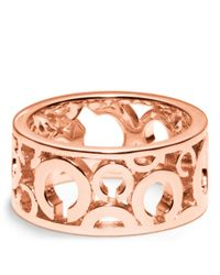 COACH | Pink Pierced Op Art Band Ring | Lyst