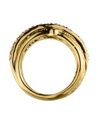 Dyrberg/Kern | Metallic Ella Shiny Gold Crystal Ring | Lyst