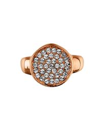 Dyrberg/Kern | Metallic Reina Rose Gold Crystal Ring | Lyst