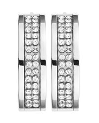 Dyrberg/Kern | Metallic Hennie Shiny Silver Earrings | Lyst