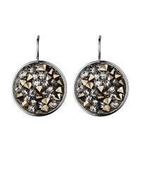 Dyrberg/Kern | Metallic Mishia Silver Grey Earrings | Lyst