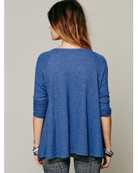Free People | Purple Rockabilly Raglan Solid | Lyst