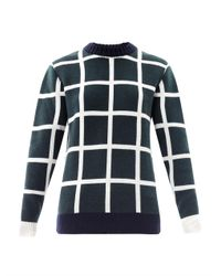 J.W.Anderson | Green Window Pane Check Sweater | Lyst