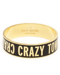 kate spade new york | Metallic Crazy Town Idiom Bangle | Lyst