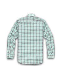 Racing Green - Blue Long Sleeve Aqua Check Shirt for Men - Lyst
