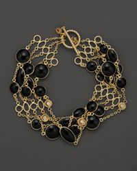 Roberto Coin | 18k Yellow Gold Confetti 5row Bracelet with Diamonds and Black Enamel 10 Ct Tw | Lyst