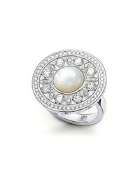 Thomas Sabo | Metallic Glam and Soul and Cubic Zirconia Disc Ring | Lyst