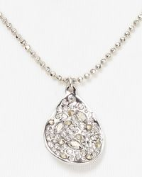 Alexis Bittar - Metallic Crystal Encrusted Rhodium Small Drop Necklace 18 - Lyst