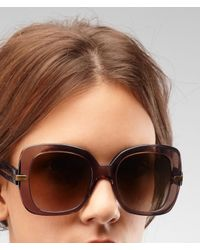 Bottega Veneta - Brown Sunglasses - Lyst