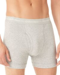 Calvin Klein | Gray Knit Boxer Briefs, 3 Pack for Men | Lyst