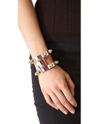 CC SKYE - Metallic Venice Bolt Cuff Bracelet - Lyst