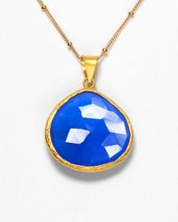 Coralia Leets - Blue Chalcedony Pendant Necklace - Lyst