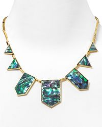 House of Harlow 1960 | Blue 1960 Five-station Drop Necklace, 18"