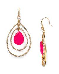 Juicy Couture - Metallic Social Lites Pave Teardrop Orbital Earrings - Lyst