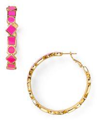 kate spade new york | Pink Cubetti Hoop Earrings | Lyst