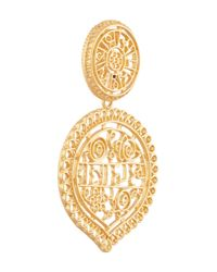 Kenneth Jay Lane - Metallic Gold-plated Filigree Clip Earrings - Lyst