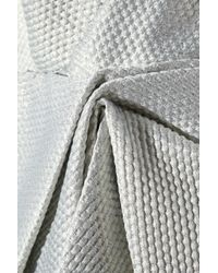 Notte by Marchesa - Draped Metallic Jacquard Dress - Lyst