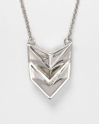 Rebecca Minkoff | Metallic Double Heart Necklace 28 | Lyst