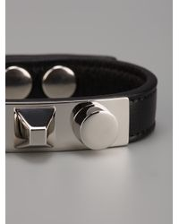 Saint Laurent - Black Studded Bracelet - Lyst