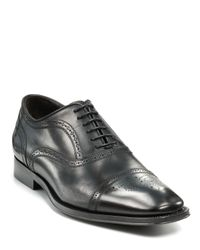 To Boot | Black Aaron Captoe Oxford Shoe for Men | Lyst