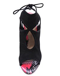 Aquazzura - Black Sexy Thing Snake Sandals - Lyst