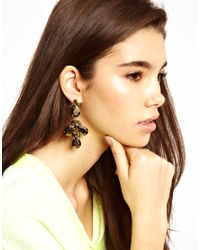 ASOS - Black Metallic Vine Earring - Lyst