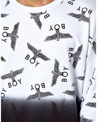 ASOS - Natural Boy London Repeat Dip Dye Sweat for Men - Lyst