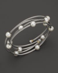 Charriol - Multicolor Classique Wrap Bangle with Cultured Freshwater Pearls - Lyst