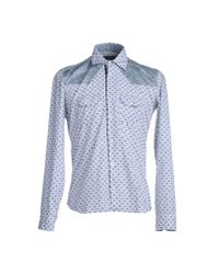Etro | Blue Micro Print Shirt for Men | Lyst