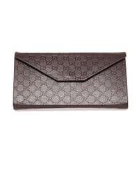 Gucci | Metallic Tortoiseshell Squared Layered Sunglasses | Lyst