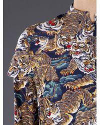 KENZO - Multicolor Tiger Crepe Top - Lyst