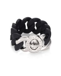 Marc By Marc Jacobs | Black Katie Silicone Chain Link Bracelet | Lyst