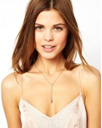 French Connection - Metallic Cuboid Bolo Necklace - Lyst