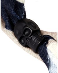Replay - Black Icon Brand Skull Camo Wrap Bracelet  for Men - Lyst