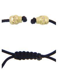 Armenta | Black Diamond Skull Macramé Bracelet | Lyst