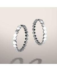 John Hardy | Metallic Medium Hoop Earrings with Full Closure | Lyst