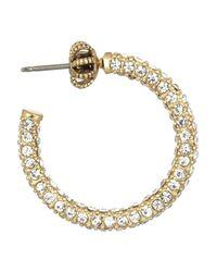 Juicy Couture - Metallic Goldplated Cubic Zirconia Hoop Earrings - Lyst