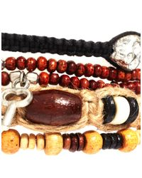 ASOS | Brown Bracelet Pack with Skulls and Keys for Men | Lyst