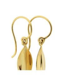 Dinny Hall | Metallic Elongated Lotus Drop Earrings | Lyst