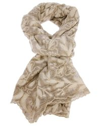 Faliero Sarti | Beige Embroidered Scarf | Lyst