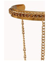 Forever 21 - Metallic Double Band Chain Cuff - Lyst