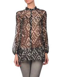 Giambattista Valli - Black Long Sleeve Shirt - Lyst