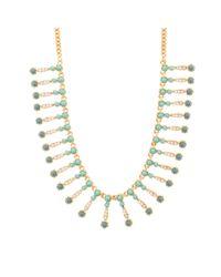 J.Crew - Green Seaside Fringe Necklace - Lyst
