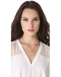 Michael Kors | Metallic 3 Ring Double Chain Necklace | Lyst